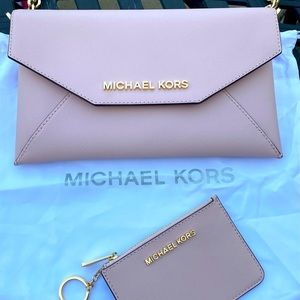 Michael Kors clutch with matching wallet